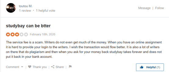 StudyBay User Reviews