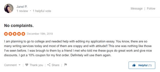 EssayBox Customer Reviews