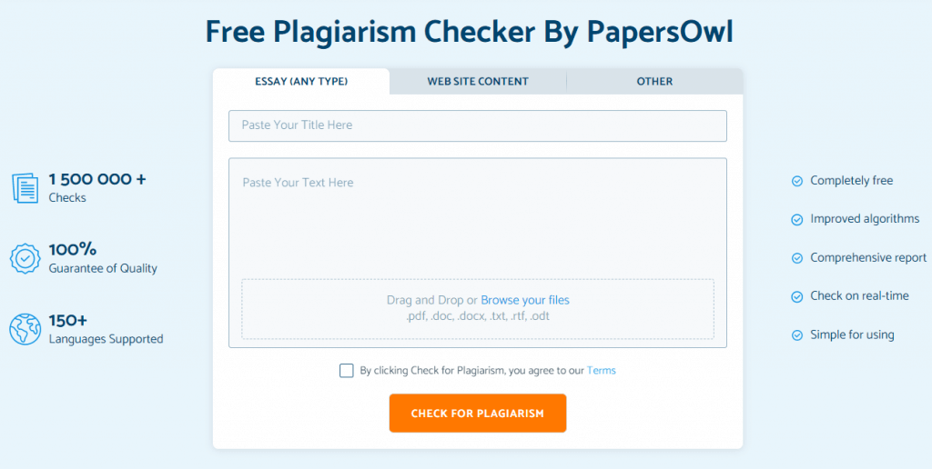 PapersOwl Plagiarism Checker