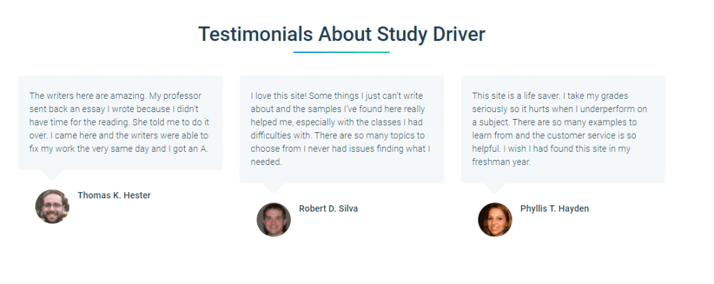 Testimonials StudyDriver