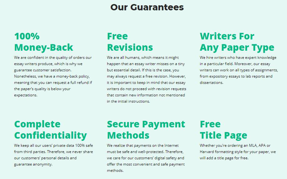 HandMade Writing Guarantee