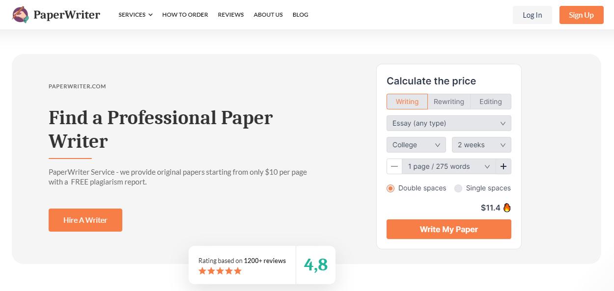 PaperWriter Mainpage